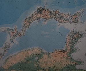 日本地図を逆さまにしてみると